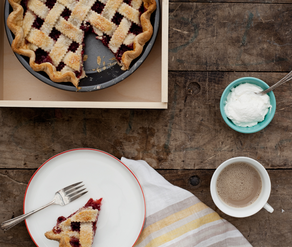 Sour Cherry Pie with Thyme & Vanilla Bean