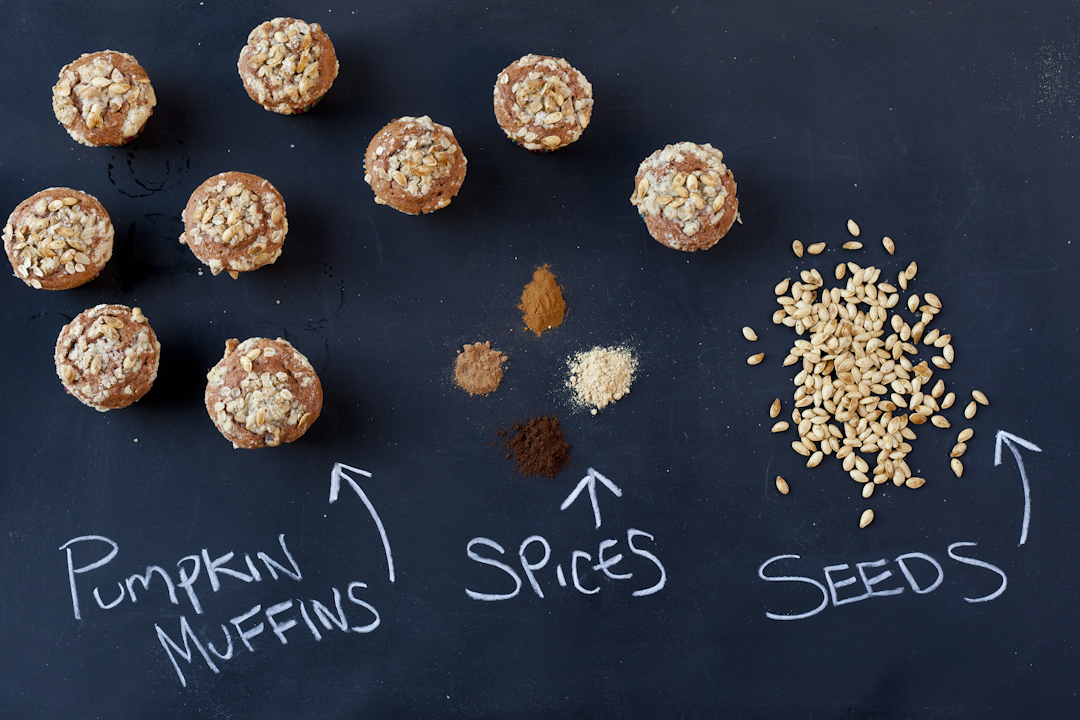 Pumpkin Muffins with Pumpkin Seed Streusel