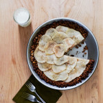 Honey Goat's Milk Pie with Poached Pears