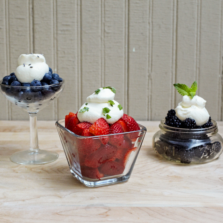 Herb Infusded Whipped Cream