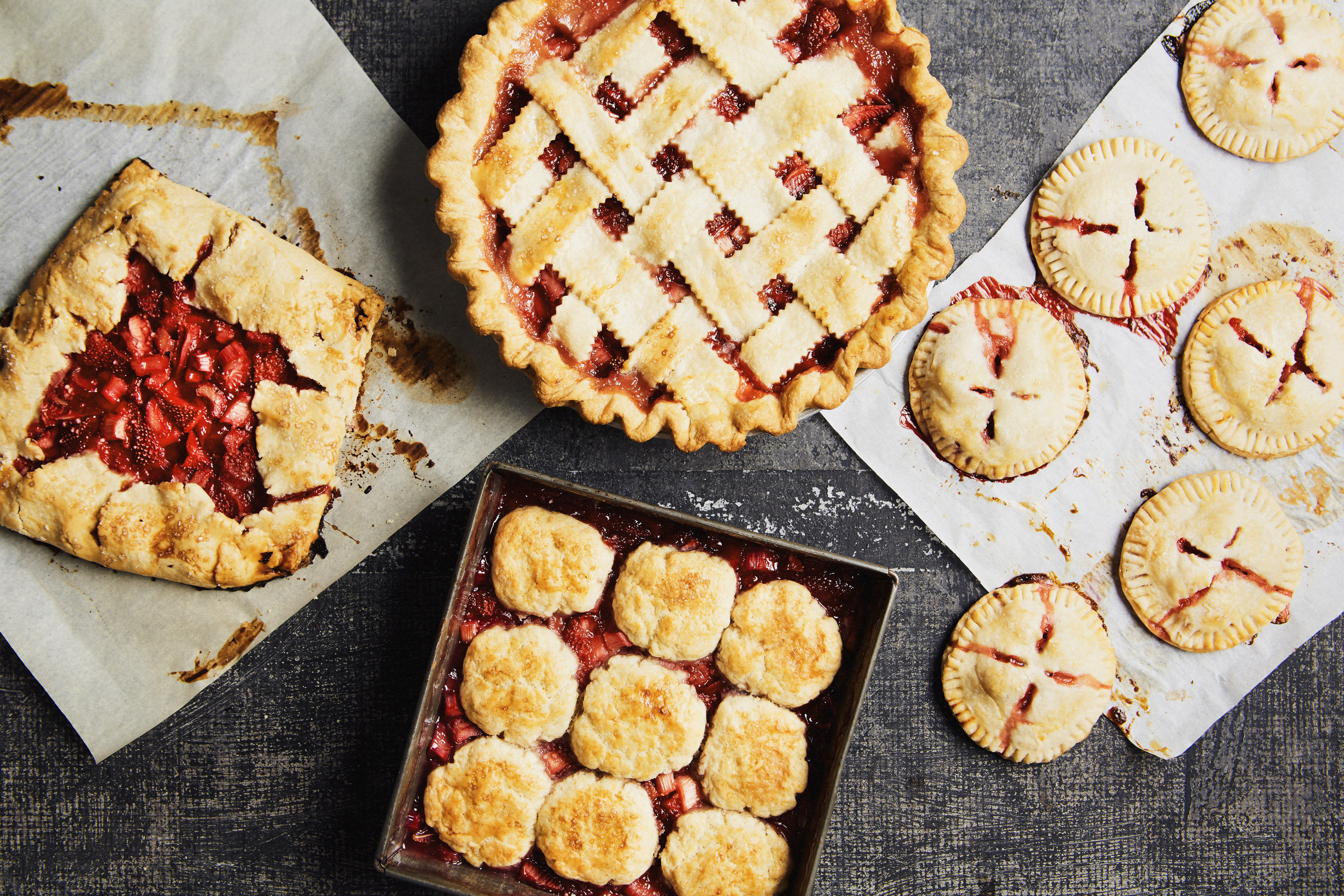 strawberry_rhubarb_pastries1933. Galettes. No pie plate? & Use the Same Fruit Pie Filling to Make Four Different Pastries ...